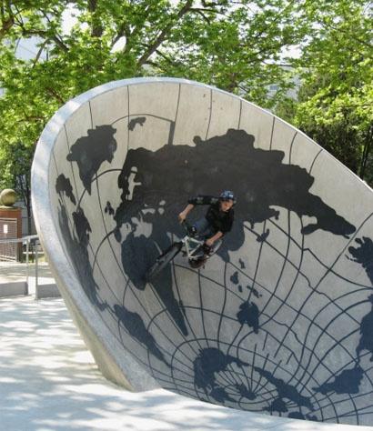Peter Kogler, Skate Park, Paris, 2007