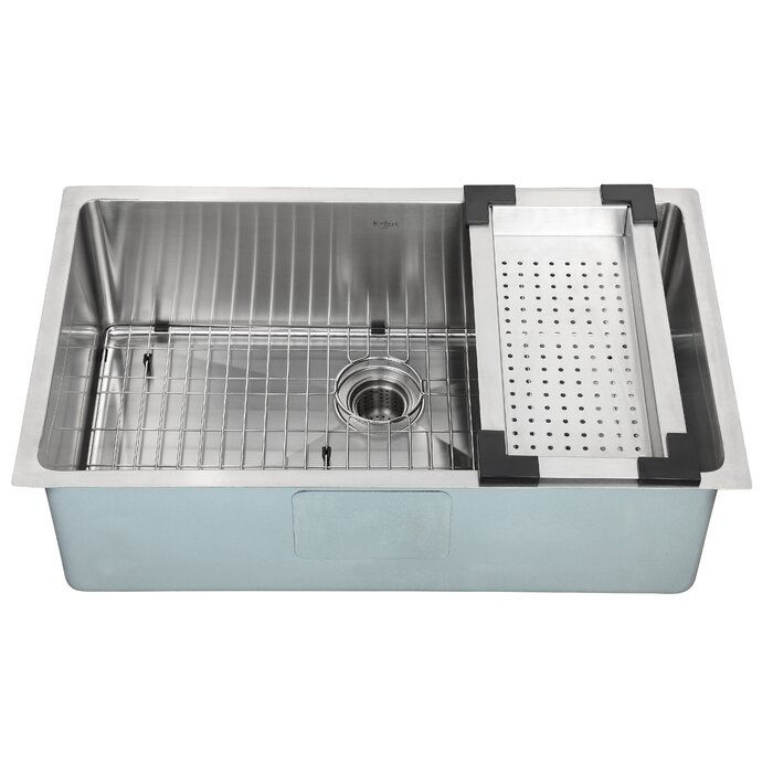 Kraus Stainless Steel Over The Sink Strainer 建築