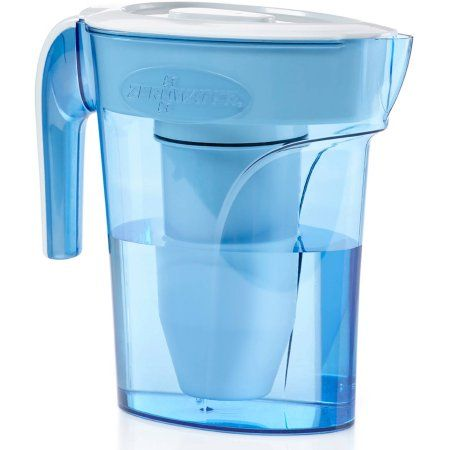 ZeroWater 6-Cup Pitcher with Free TDS Light-Up Indicator (Total Dissolved Solids), Blue
