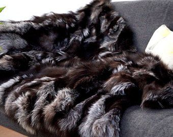 silver fox blanket throw for sofa