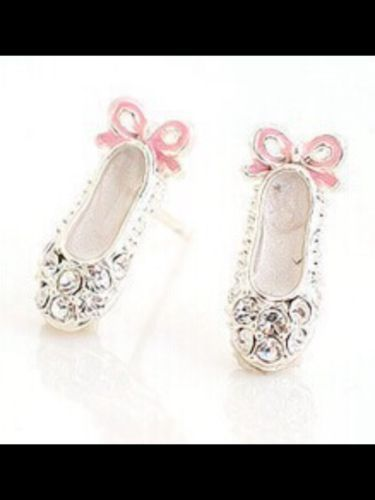 Crystal Ballet Shoe Earrings, just £8.99!  #christmas #ballet http://www.happiesttomato.co.uk/apps/webstore/products/show/6347136
