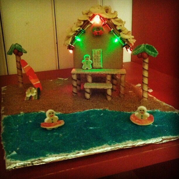 Beach Themed Gingerbread House: 17 Best Images About GINGERBREAD HOUSE On Pinterest