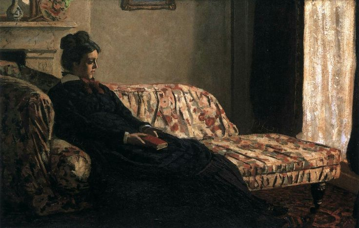 Camille Monet on the Couch 1871 Oil on canvas, 48 x 75 cm Musée d'Orsay, Paris