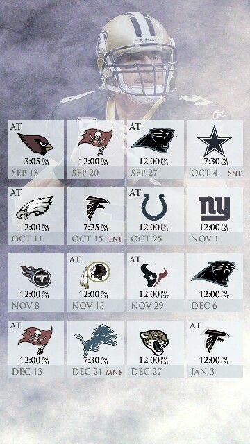 2015 New Orleans Saints Schedule for I-Phone & Android.