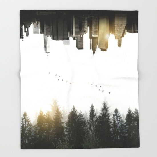 #duality #juxtaposition #doubleexposure #doubleexpo #upsidedown #nature #forest #landscape #city #newyork #skyline #blanket #throwblanket #homedecor