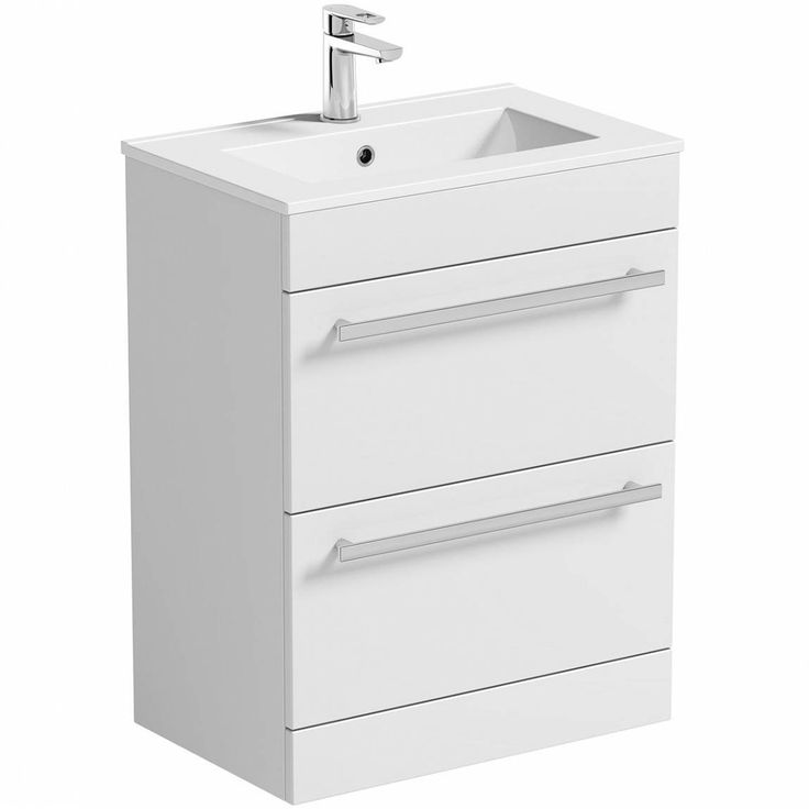 For modern bathrooms, this stylish yet practical floor mounted drawer unit with basin from our Odessa White range is ideal.With lack of space being an issue for many homeowners, this unit has been specially designed with a short projection of just 390mm, helping to maximise your floorspace. The two spacious drawers come complete with matte chrome metal handles and provide a great place to stow away toiletries and other bathroom essentials. Plus, the beautiful high gloss white finish and…