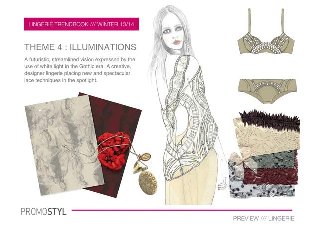 Promostyl Fall 2013 Lingerie Trend Preview: Illuminations