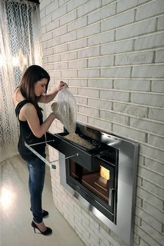 Klover-PFP-18-Inset-Pellet-Boiler-Stove Klover insert stove - refilling