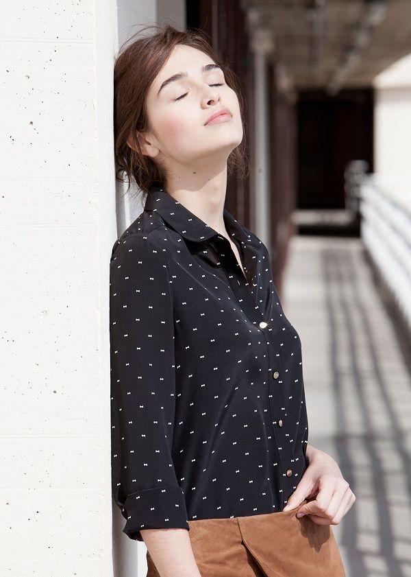 Sézane / Morgane Sézalory - Direction Marseille - Silk Tomboy Shirt