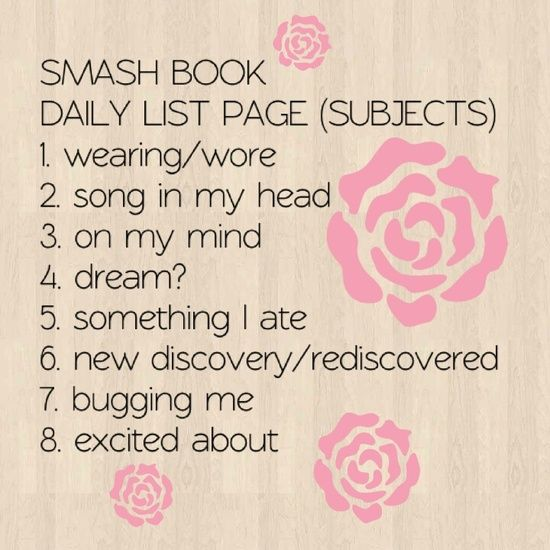 great for daily smash book/journal entry - would be good to do this on the special days of the year eg: birthdays, anniversary, Christmas etc