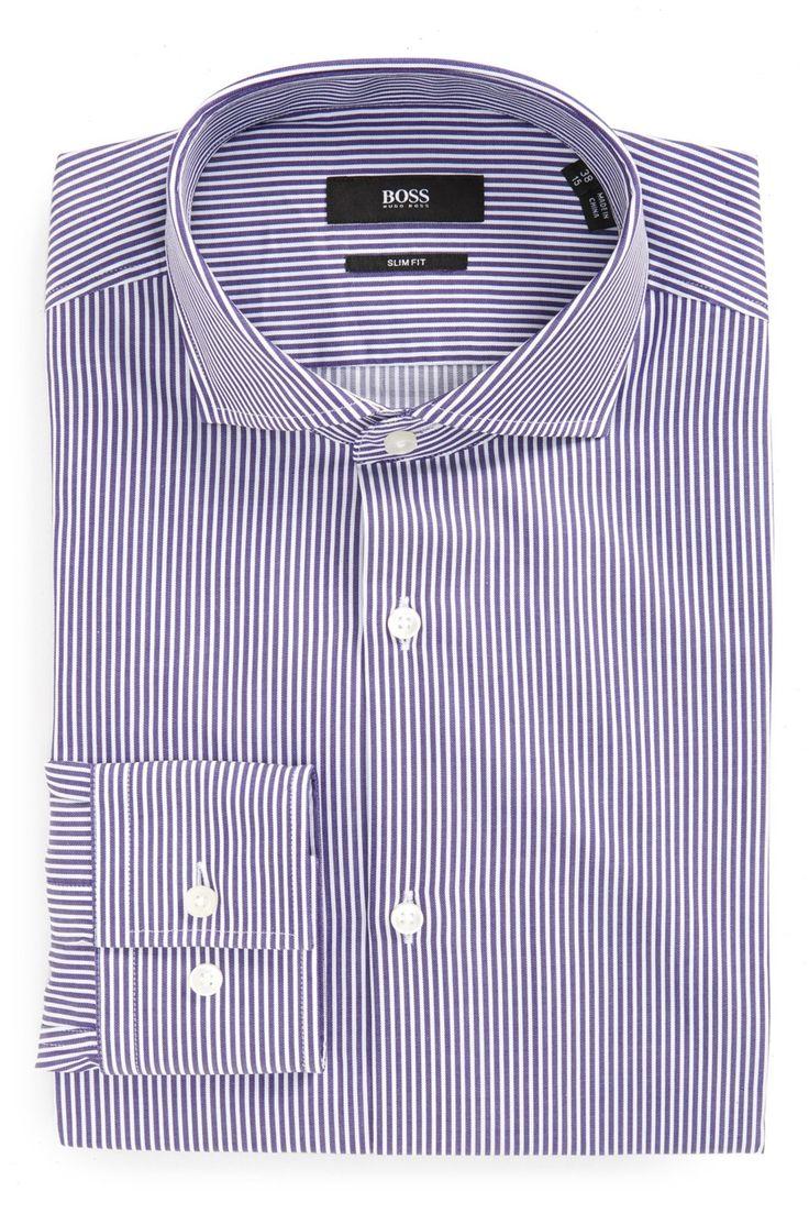 Stripe Slim Fit Dress Shirt