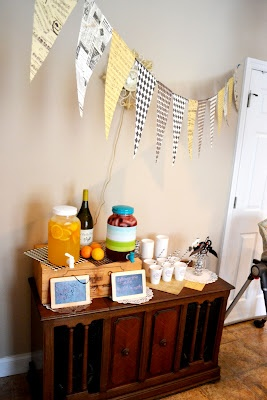 First Birthday Party Drink Station For The Adults And The Kids