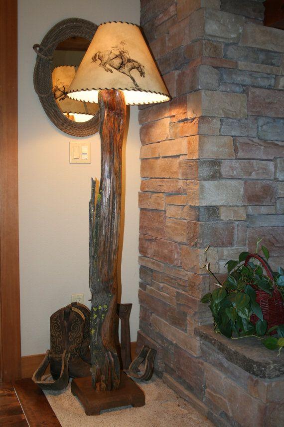 Rustic Ancient Juniper Floor Lamp  WesternCowboy