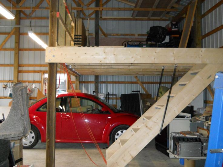 Garage attic loft google search garage shop ideas for Workshop plans with loft