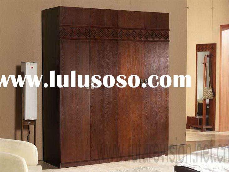 Home Storage Solid Wood Wardrobe Closet (EL 178W) Use As Room Divider