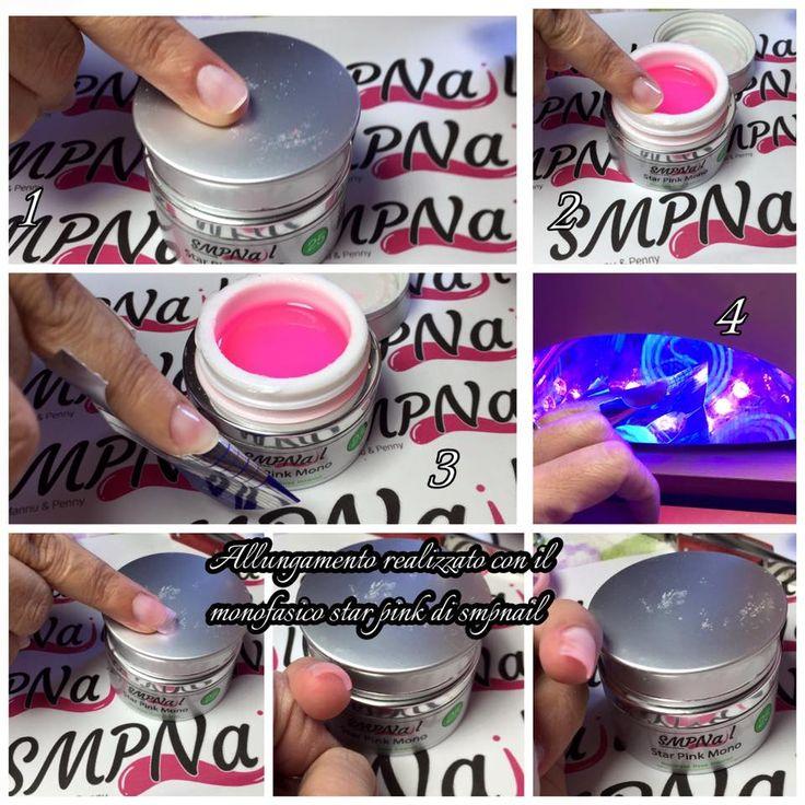 Si può fare una ricostruzione ultra slim con lo Star Pink Mono by #Smpnail? Ebbene Juliana Queiroz Martins vi spiega come fare :) provate anche voi, e postate la vostra esperienza :) #starpinkmono #geluv #monofasico #allungamento #nailform