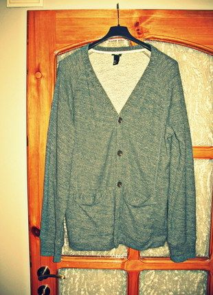 Kup mój przedmiot na #vintedpl http://www.vinted.pl/odziez-meska/zapinane-swetry-kardigany/10327764-kardigan-zapinany-meski-rozmiar-m-hm-niebieski