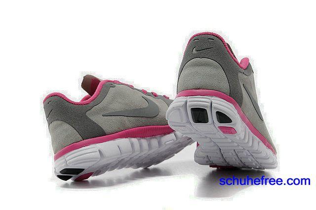 Damen Nike Free 3.0 V2 Anti -Pelz-Schuhe Grau Rose