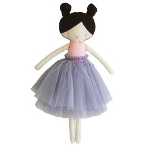 Alimrose – Colette Doll Pink Rose & Grey Colette is a beautiful large doll with 2 top knots in her hair and a beautiful tulle tutu. Suitable from 3yrs.  50cm tall