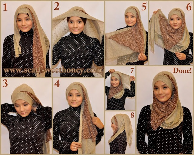 HOW TO TIE HIJAB yes, Ive worn this too~