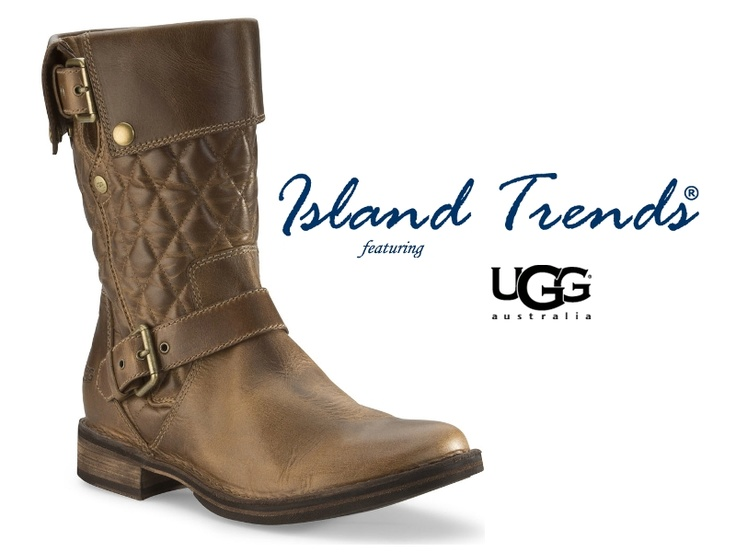 The UGG Conor fuses high fashion with a motorcycle boot silhouette. Re-Boot at Island Trends: http://www.islandtrends.com/index/page/product/product_id/20562/category_id/1377/product_name/UGG+Women%27s+Conor+Boots+-+Fawn #uggconorboot #islandtrends #uggboots