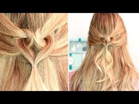 Heart hairstyle for Valentine's Day ❤ Medium long hair tutorial, easy and cute - YouTube
