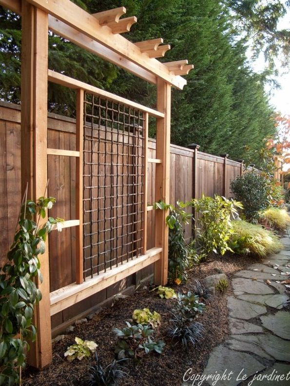 Combine such a trellis with a bench. Carved craftsman and pnw native.