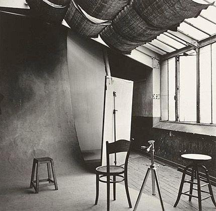 Irving Penn's studio, Paris, 1950.