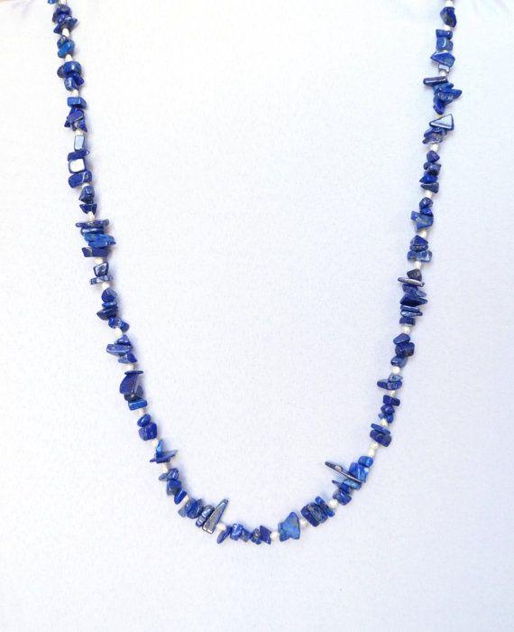Collana di lapislazzuli collana blu pietre dure collana di Bazari