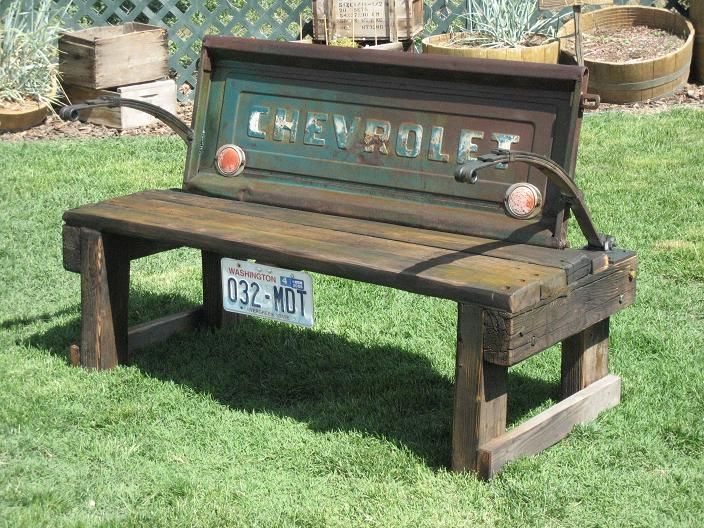 Cool Bench: Benches, Stuff, Outdoor, Furniture, Tailgate Bench, Diy, Craft Ideas