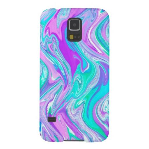 Purple Turquoise Abstract Twist Samsung Galaxy S5 Case by Mega Case