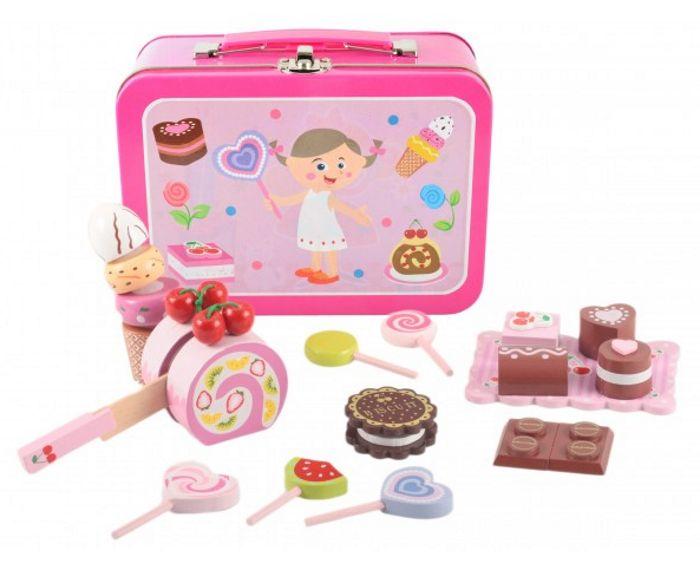 Koffert med godteri, lekemat