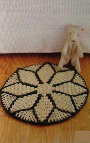 Crochet Rug Star - Chart ❥ 4U hilariafina  http://www.pinterest.com/hilariafina/