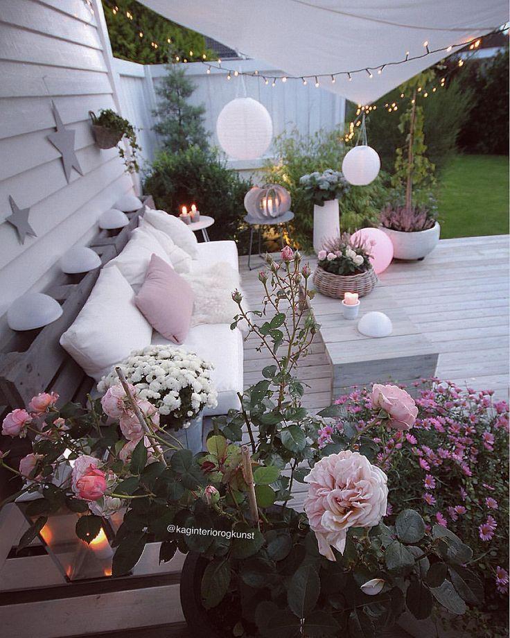 "12.2k Likes, 213 Comments - Kirsten (@kaginteriorogkunst) on Instagram: ""Soon☀️ Ha ein fin søndagskveld ✨ . #myhome#patio #terrasse #terrace #diysofa #diytable #diy #dyi…"""