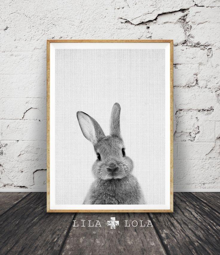 Lapin imprimé Woodlands pépinière Art decoration par LILAxLOLA