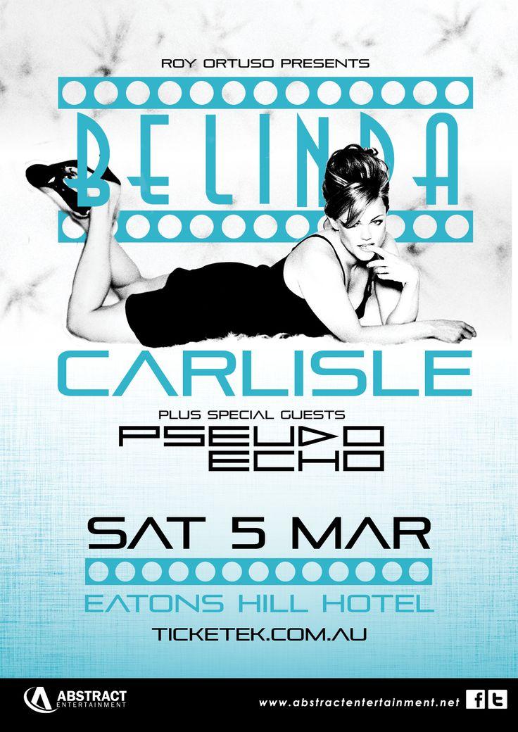 Belinda Carslisle & Pseudo Echo's Upcoming National Tour starting in Feb 2016