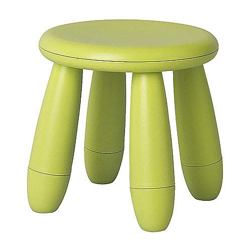 IKEA Mammut Children's Stool: Rough and tumble tots are no match for the durable plastic Mammut Stool ($8) from IKEA. Its chunky, rounded legs avoid any sharp corners, making it extra kid-friendly.