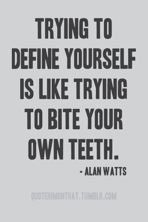 =) (But it's still very important to make decisions that will define who you are…