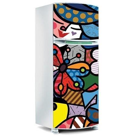 Adesivo para Geladeira Inteira - Com desenhos Coloridos