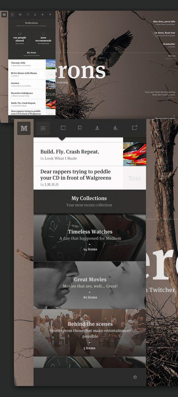 Medium.com Collection - Web Design Concept by Leigh Taylor #webdesign