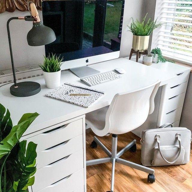 Brusali Corner Desk White 120x73 Cm In 2020 White Desks