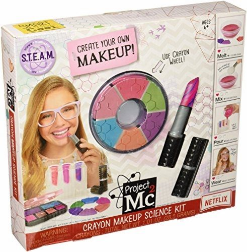Project Mc2 Crayon Makeup Science Kit Toy  BUY NOW     $19.90    As seen in the Emmy nominated Netflix original series, Adrienne Attoms' next mission is to use her cosmetic chemistry skills t ..  http://www.beautyandluxuryforu.top/2017/03/10/project-mc2-crayon-makeup-science-kit-toy-2/