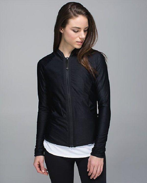 LULULEMON Find Your Bliss Jacket REVERSIBLE Rare Black Mesh/ Solid Black Sz 8  | eBay