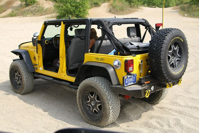 Yellow Jeep Wrangler Unlimited