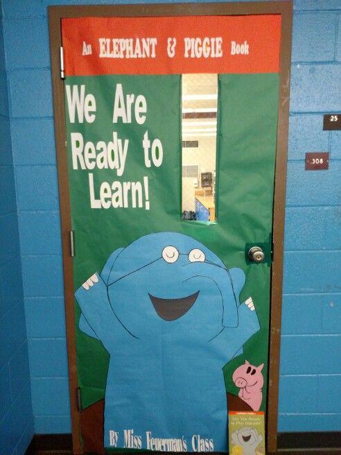 Elephant Classroom Decor ~ Mo willems elephant piggie classroom door