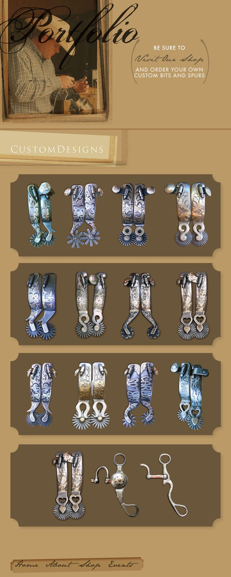 Kerry Kelley Bits & Spurs!! I want some of these SPURS!!