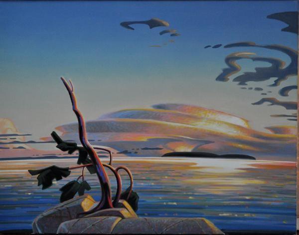 Terry Watkinson - Lenticularis 28 x 36 Oil on Canvas
