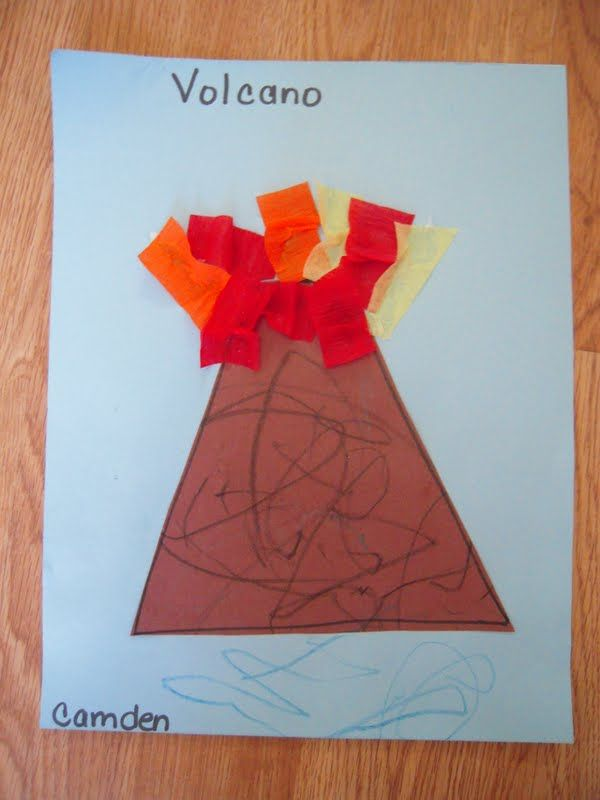 V is for Volcano craft