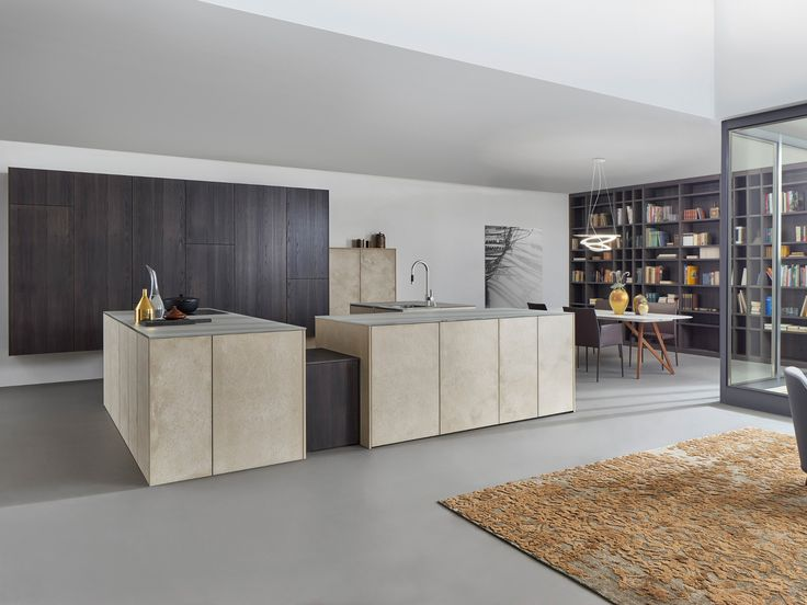 Cozinha com ilha TOPOS STONE by LEICHT Küchen