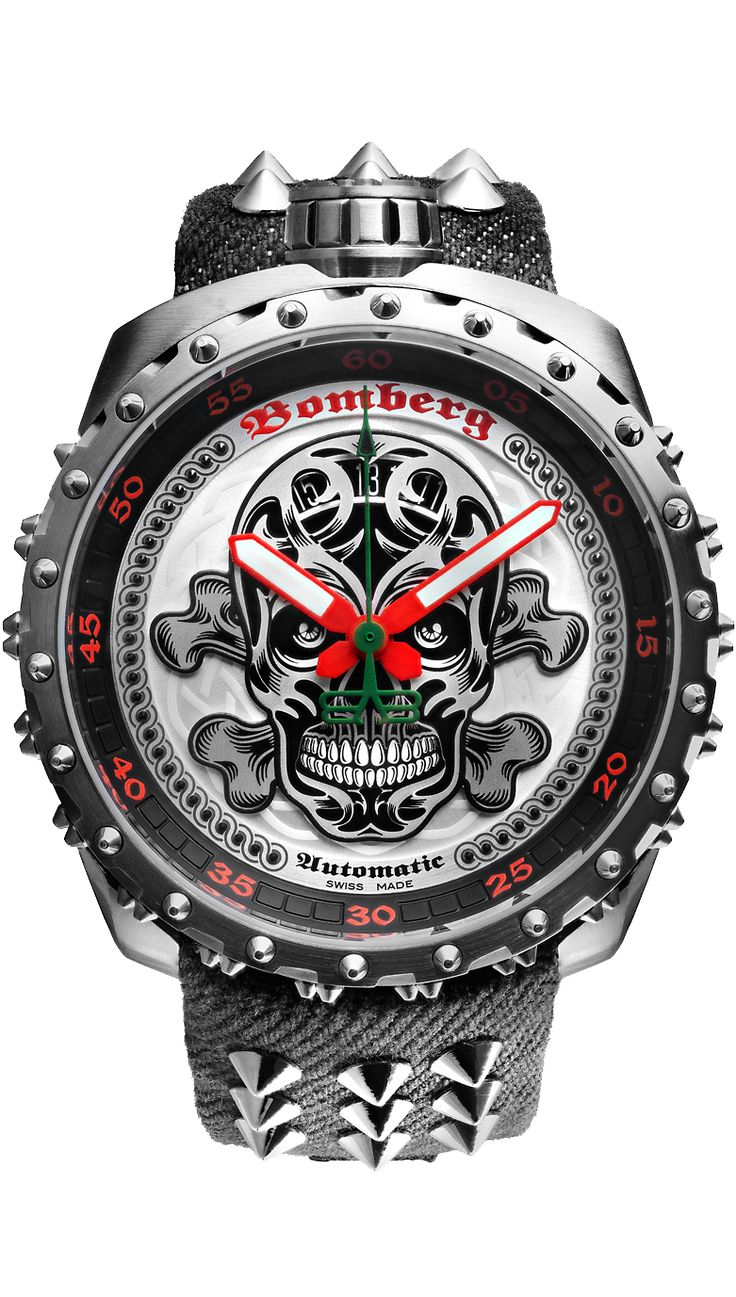 BOLT-68 Grey Nails Badass Automatic - BOMBERG - Defiant & Provacative Swiss Made Watches